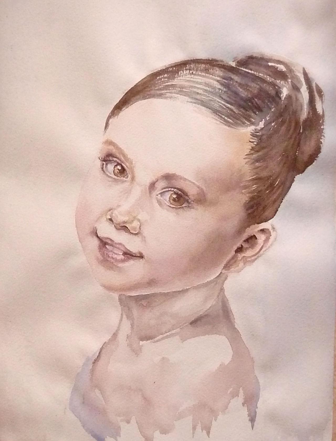 Девочка Аня акварель