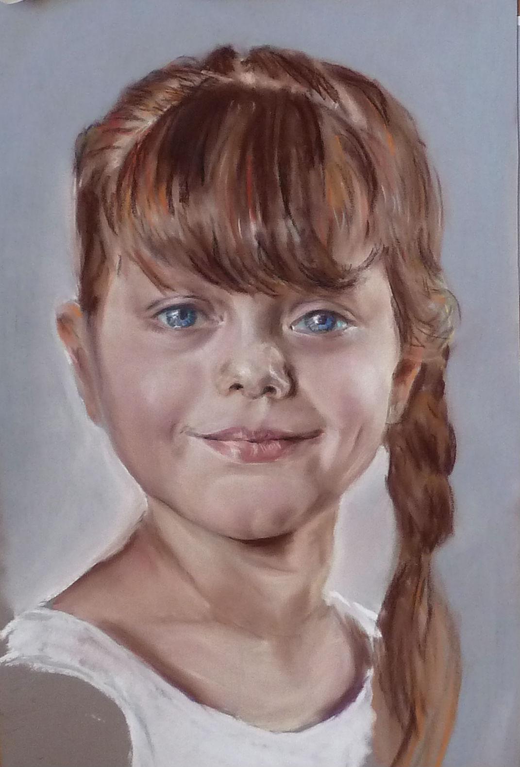 Портрет пастелью Яночка