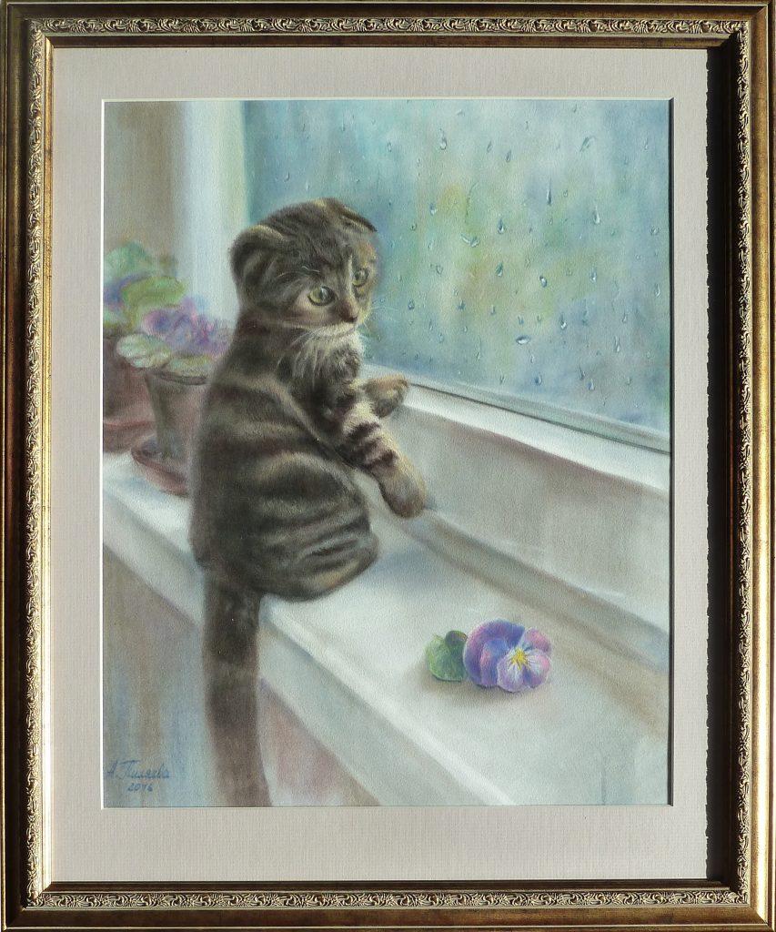 Котенок пастелью