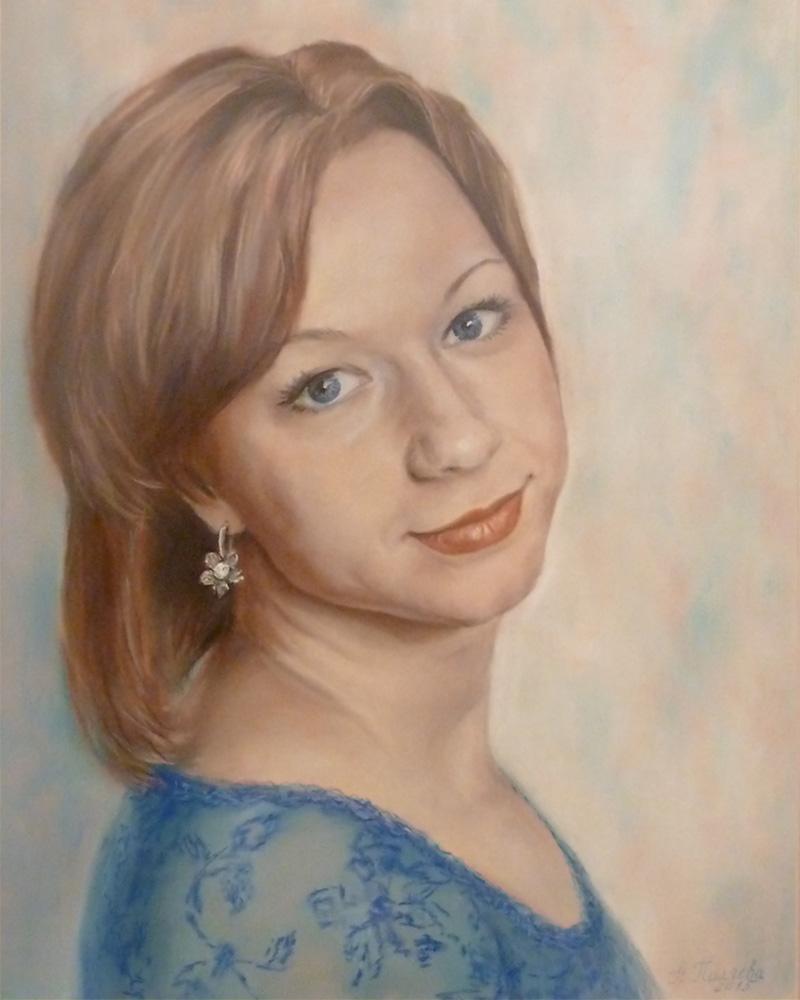 Портрет пастелью Екатерина