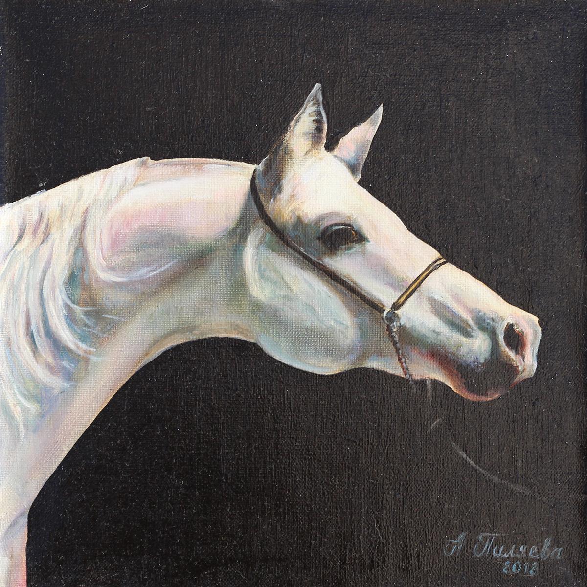 лошадь белая масло