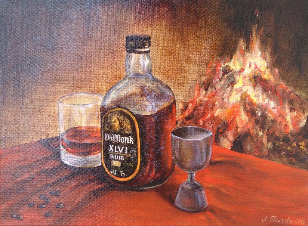 Ром старый монах картина маслом